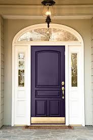 majestic front door in regal purple