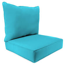 great aqua blue outdoor chair cushion deep seating with box seat and cushion back for nice
