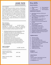 Key Skills Resume Administrative Assistant 8 Cv Template Admin Assistant Theorynpractice
