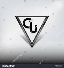 Light Beam Logo Cu Dark Triangle Logo Highlight Shadow Beam Stock Vector