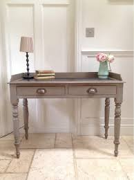 sofa hall table. Hand Painted Grey Victorian Antique Desk Ladies Writing Table Vintage Wooden Sofa / Console Hall Copy