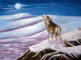 wolf howling painting. Wonderful Painting Wolf Painting  Howling By Dorothy Riley In A