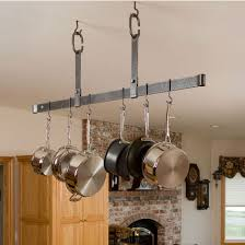 Ceiling Mounted Pot Rack With Lights