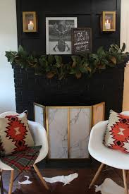 modern black fireplace