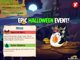 """Angry Birds Epic """"Halloween"""" Special Event"""