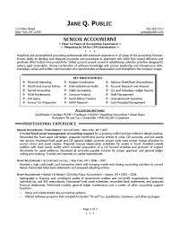 Accounting Resume Sample 16 Good Resumes Senior Accountant Template