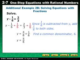 additional example 2b solving equations with fractions