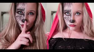 werewolf little red riding hood easy makeup tutorial