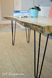 hairpin leg diy live edge wood coffee