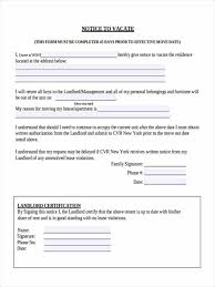 Lease Violations Free 7 Notice To Vacate Forms In Sample Example Format