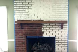 painted brick inside fireplace painting interior nice paint a 2 garage colors asto