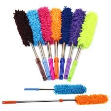 dusting tools. Household Cleaning Tools Scalable Chenille Duster Mop Dusting Brush Dust Feather Car To