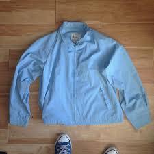 Light Jacket For Work London Fog Baby Blue Work Jacket Very Light Super Depop