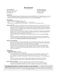 Resume Example For College Students With No Experience New High