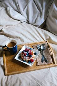 breakfast in bed ... then stay until it's dark again. It pays to
