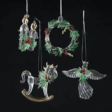 candle wreath rocking horse angel with holly ornament spun glass ornaments heart