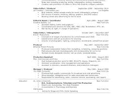 Film Production Assistant Resume Sample Free Professional Resume