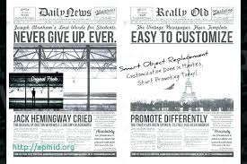 Editable Old Newspaper Template Sample Old Newspaper Template Documents In Word Photoshop