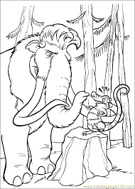 Small Picture Ice Age Coloring Page 20 Coloring Page Free Ice Age Coloring