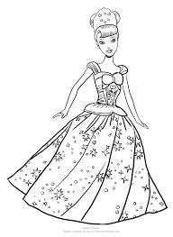 Disegno Di Barbie Principessa Volteggiante Da Colorare