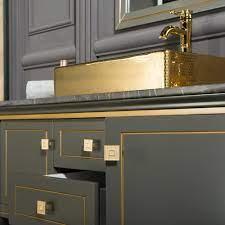 Trenton 48 Inch Anthracite Gold Bathroom Cabinet