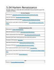 05 04_task Docx 5 04 Harlem Renaissance Directions Below