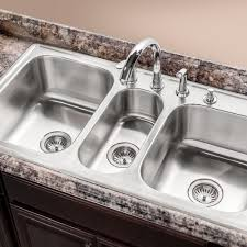 Houzer 41 Triple Bowl Stainless Steel Topmount Sink Pgt 4322 1