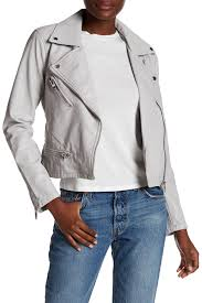image of blanknyc denim faux leather moto jacket