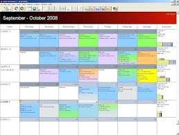 Calendar Excel Template Ms Office Calendars Monthly Program Planning