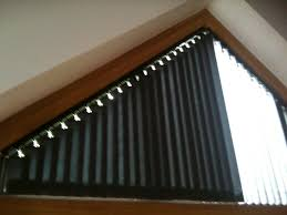 Vertical Blinds Used In Triangular Head Of Window  Bobbin House Blinds Triangular Windows