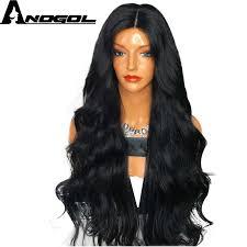 <b>Anogol High</b> Temperature Fiber Hair <b>Natural Hairline</b> Glueless Long ...