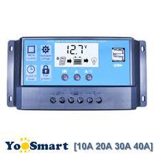 PWM Solar Charge Controller 10A 20A 30A <b>40A 50A 60A LCD</b> Dual ...