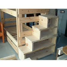 bunk bed with stairs. Solid Wood Custom Made Stairs For Bunk Or Loft Bed (300 Lbs Weight Capacity) (USMFS) With