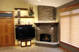 Open Stone Fireplace Stack Stone Fireplace Pictures Eclectic Living Room With Open