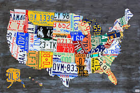 car tag wall art mixed media license plate map of the usa on gray on license plate map wall art with car tag art fine art america