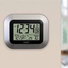 clocks atomic digital wall clock with