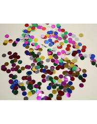Confettis de table rond
