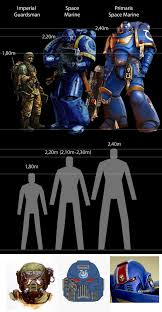 Space Marine Height Chart Size Comparison Imperial Guardsman Vs Space