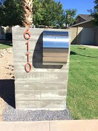 Modern Mailboxes Fascinating Curved Front Stainless Steel Mailbox
