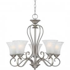 silver chandelier antique nickel with five lamp by quoizel for elegant interior lights design