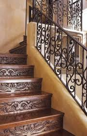 beautiful carved wood western staircase from david naylor interiors looks gorgeous with the iron railing beautiful custom interior stairways
