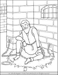 You can read about his story in matthew 3 and 11. Saint John The Baptist Coloring Pages The Catholic Kid