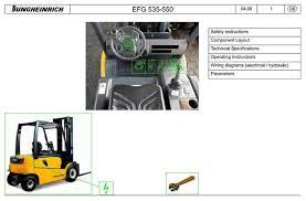 komatsu wheel loader wa200 7 sn 80001 and up workshop Transpo F540 Wiring Diagram jungheinrich electric lift truck efg 535, efg 540, efg 545, efg 550 (