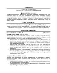 facilities manager resume