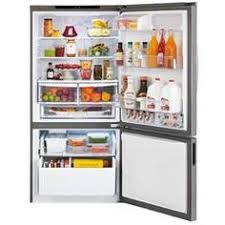 kenmore bottom freezer refrigerator. emphasize the visual appearance of your kitchen space by including bottom freezer refrigerator from lg electronics. comes in stainless steel finish. kenmore