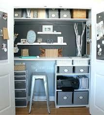 Office closet design Small Space Small Cache Crazy Small Closet Desk Ideas Closet Desk Ideas Excellent Home Decor