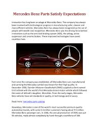 Shop genuine and oem mercedes parts online! Mercedes Benz Parts Satisfy Expectations By Mercedes Parts Catalog Issuu