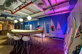 google office israel. Surfing And Beach Theme \u2013 Meeting Area Of A Google Office In Israel