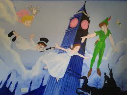 superb peter pan wall mural flying to never never land part 4