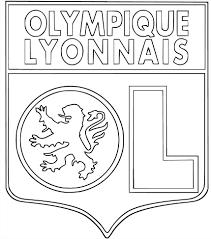 Coloriage Cusson Olympique Lyonnais Imprimer